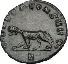 GALLIENUS One of Gallienus' last issues  RARE Ancient  Roman Coin Panther i46461