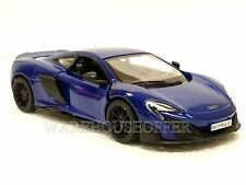 Kinsmart 1:36 Display Mclaren 675Lt Diecast Car Blue Color Kt5392D