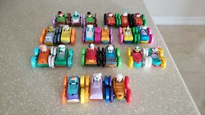 Lot of 21 McDonald's 1990 Tiny Toons Flip Cars Warner Bros Happy Meal Toys Mix