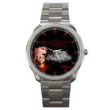 Nightmare on Elm Street Horror Freddy Krueger Custom Stainless Steel Mens Watch