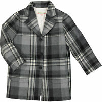 BONPOINT Girls' Check Wool Coat, Grey, sizes 4 6 8 years, RRP £310