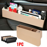 Car Seat Gap Slit Catcher Filler Storage Box Case Pocket Organizer Holder 2 USB