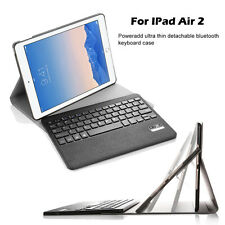 For Apple iPad Air 2 Leather Case Cover Smart with Removable Bluetooth Keyboard