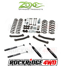 "Zone Offroad 4"" Suspension Lift Kit for Jeep Wrangler TJ 97-02 w/ Nitro Shocks"