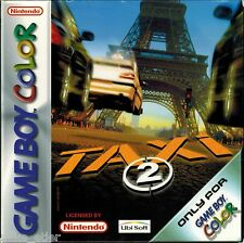 Taxi 2 (Nintendo Game Boy Color, 2000) with Box & Manual