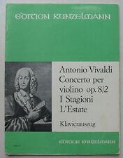 """Antonio Vivaldi, concerto """"l'été"""" des 4 saisons, Partition pour violon"""