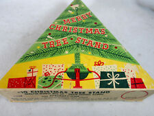 Vintage 1950's Merry Christmas Tree metal stand Hamilton Monroe Mfg.
