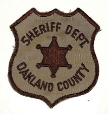 OAKLAND COUNTY MICHIGAN MI Police Sheriff Patch STAR VINTAGE OLD ~