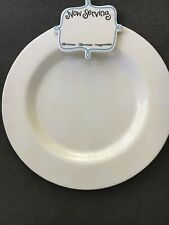 Coton Colors Large Round 17� White w/ White Polka Dots Platter w/Attachment Mint