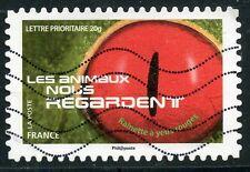 TIMBRE FRANCE AUTOADHESIF OBLITERE N° 1154 / LES ANIMAUX NOUS REGARDE