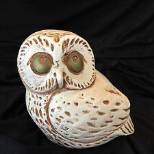 "Vintage Jaru Owl Sculpture Figurine White 5"" Tall Japan 1974 Kitschy Collectible"