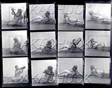 Carol Plays Nude w Boa Snake HENDRICKSON Negative Photograph Contact Sheet D993