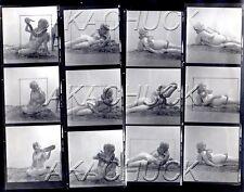 Carol Plays Nude w Boa Snake HENDRICKSON Negative Photograph Contact Sheet D993