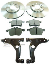 VAUXHALL ASTRA H MK5 FRONT 2 BRAKE DISCS AND PADS SET + 2 LOWER WISHBONE ARMS