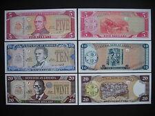 LIBERIA  5 + 10 + 20 Dollars 2011  (P26 + P27 + P28)  UNC