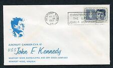 Aircraft Carrier John F. Kennedy Christening, Newport News, VA, 5/27/67 w/#1246