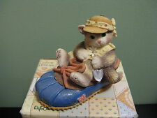 """Enesco Calico Kittens """"You'Re Good For My Sole"""" Cat Figurine 1997"""