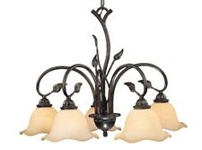 Vaxcel Vine Oil Shale / Amber Flake 5 Light Ceiling Chandelier Light CH38805OL