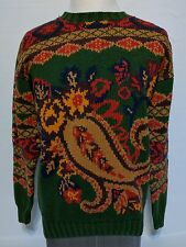 Vintage 90s Tommy Hilfiger HOLY GRAIL Giant Paisley Cotton Knit Sweater MEDIUM