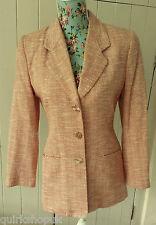 PATSY SEDDON peach COTTON BLEND BOUCLE occasion / work jacket / blazer 10 38 NEW