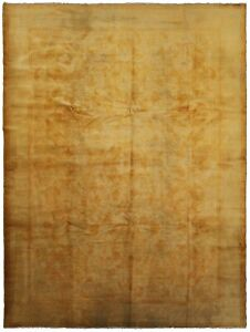 1920 Antique Turkish Oushak Rug 9x12 Handmade Oushak Gold 9x11 9'x12' Oushak