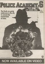 3/2/90Pgn23 Advert: police Academy 6. City Under Siege On Video Now 7x5