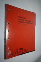 NEW VINTAGE DEC DIGITAL VAX/VMS SYSTEM MANAGER'S REFERENCE MANUAL AA-Y507B-TE