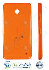 Carcasa Tapa Batería Nokia CC-3079 02506D10 para Lumia 630 / 635 Naranja Brillo