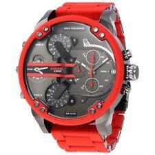 Homme Diesel DZ7370 Monsieur papa rouge montre chronographe RRP £ 399