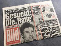 Bildzeitung 02.12.1989 Dezember  besonderes Geschenk 30. 31. 32. 29. Geburtstag