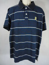 F&F Men's Stripe Short Sleeve Polo Shirt 100% Cotton - Size XL