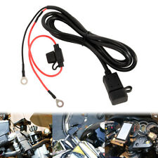Motorcycle 12V SAE  USB Phone GPS Charger Cable Adapter Inline Fuse Waterproof
