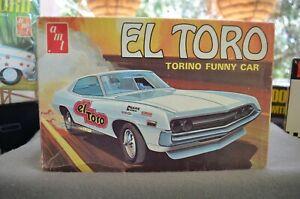AMT Ford Torino 'El Toro' Funny Car - 1/25 - #T383-225 - Vintage!