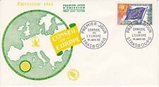 Enveloppe 1er jour FDC 1965 - Conseil de l'Europe timbre 0.25