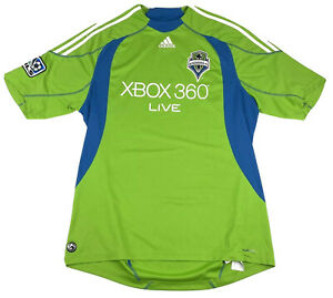 VTG Seattle Sounders FC MLS Major League Soccer Jersey Adidas Mens XL XBOX 360