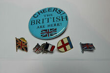 5 English/british flag/patriotic badges