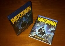 WATCHMEN 3-disc Blu-ray US import region a free (rare OOP lenticular slipcover)