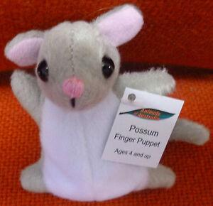 AUSTRALIAN ANIMAL FUNDRAISER GIFT POSSUM Soft Material FINGER PUPPET