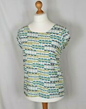 Lily & Me Sun and Shade Top Size 12 Linen Mix Short Sleeves