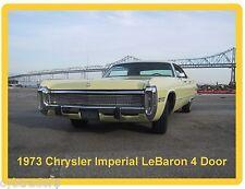 1973 Chrysler Imperial Lebaron 4 Door  Auto Refrigerator / Tool Box  Magnet