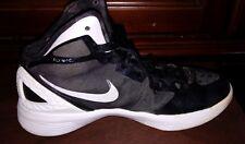 Nike Zoom shoes size 6.5 Mens Black white swoosh athletic Running Basketball