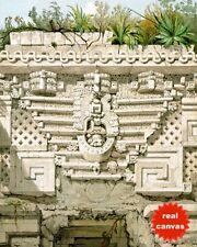 MAYAN DOORWAY DETAIL AT UXMAL MEXICO CATHERWOOD PAINTING ART REAL CANVAS PRINT