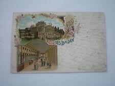 AK  Litho Wiesbaden, Neues Theater, Colonnaden.  gel 1903