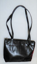 Vintage Monarchy Black leather Tote Purse hand Bag Purchased and Made in Hungary