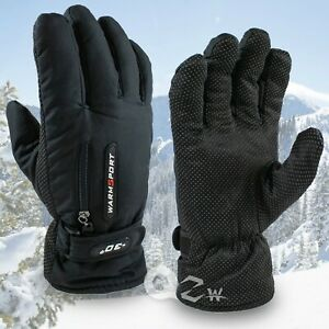 Mens Winter Thermal Warm Waterproof Ski Snowboarding Driving Work Gloves Mitten