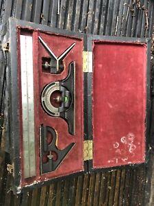 "Brown & Sharpe Engineers 12"" Combination Square Set (steel) Vintage Boxed"