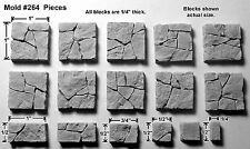 Hirst Arts Rubble Floor Tiles Mold #264 - cast in resin