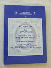 Van Dieten Stamp Auction Catalogue-Netherlands & Worldwide- Jan 2008