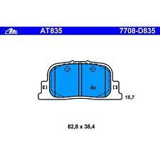 Ate AT835 / D835 PremiumOne Disc Brake Pads Rear