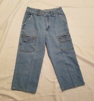 Women's Bill Blass Denim Capri Blue Jeans ~ Sz 6 ~ Cargo Pockets ~ 100% Cotton